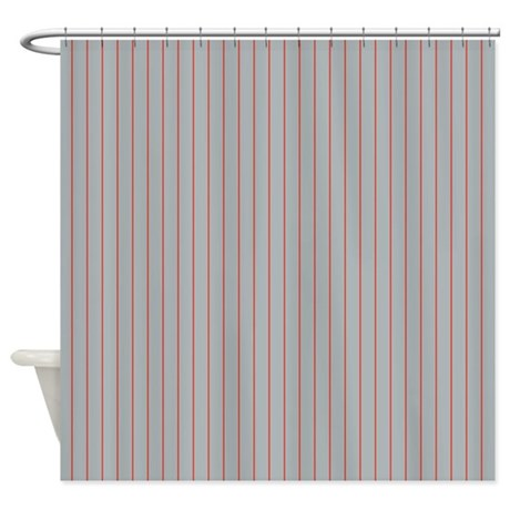 Terry Cloth Shower Curtain Grey Striped Shower Curtain