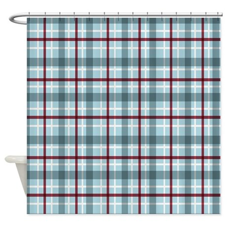 Pocket Rod Curtain Hardware Blake Plaid Shower Curtain