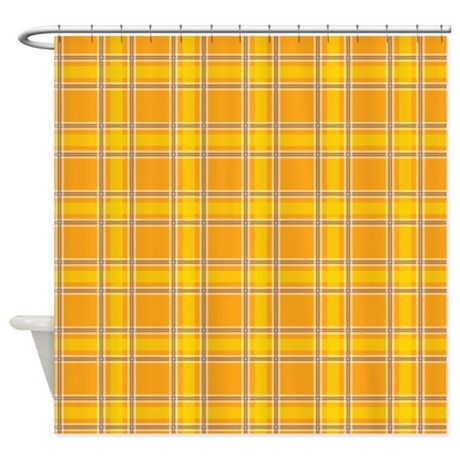 Plaid Classic Yellow Shower Curtain