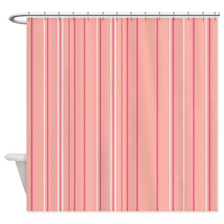 Stripes Multi Peach Shower Curtain by Admin CP