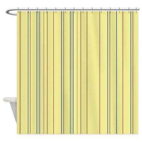Stripes Multi Yellow Shower Curtain by Admin CP