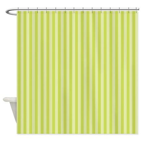 Stripes Single Green Shower Curtain