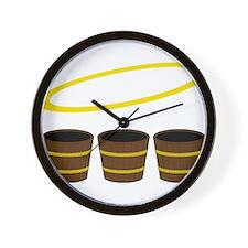 Holy Buckets Wall Clock