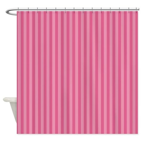 Stripes Single Pink Shower Curtain