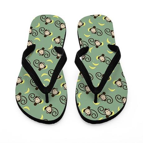 Silly Monkeys Flip Flops - Sage Green