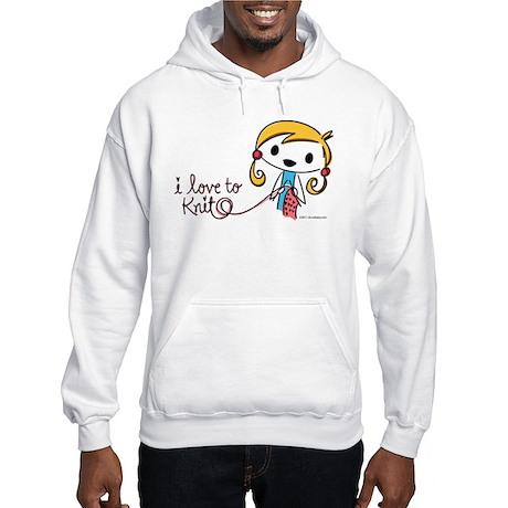 I Love to Knit Hooded Sweatshirt