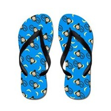 Silly Monkeys Flip Flops - Deep Aqua