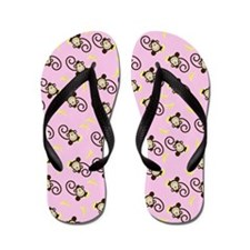 Silly Monkeys Flip Flops - Light Pink