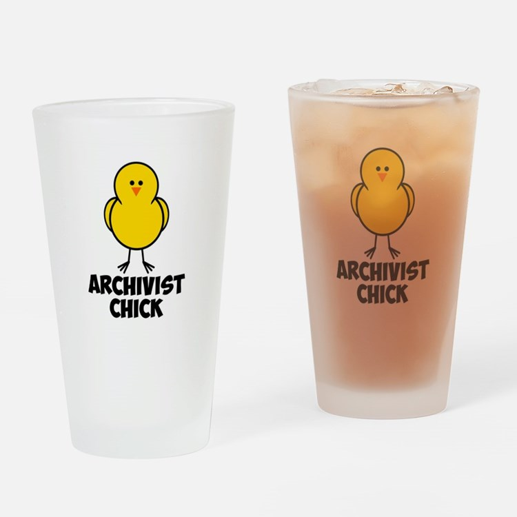 Archivist Chick Drinking Glass