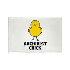 Archivist Chick Rectangle Magnet
