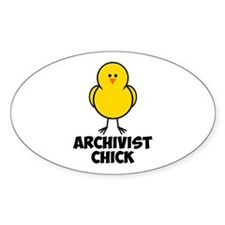 Archivist Chick Decal