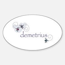 Demetrius Oval Decal