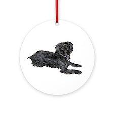 Yorkie Poo Ornament (Round)