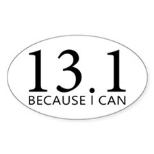 sticker-oval-13-because Decal