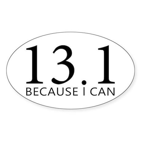 sticker-oval-13-because Sticker