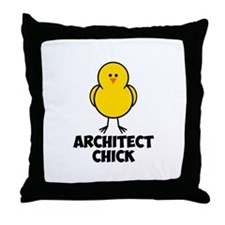 Architect Chick Throw Pillow