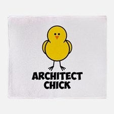 Architect Chick Throw Blanket