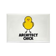 Architect Chick Rectangle Magnet