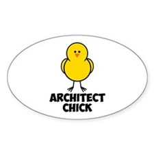 Architect Chick Decal