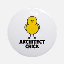 Architect Chick Ornament (Round)