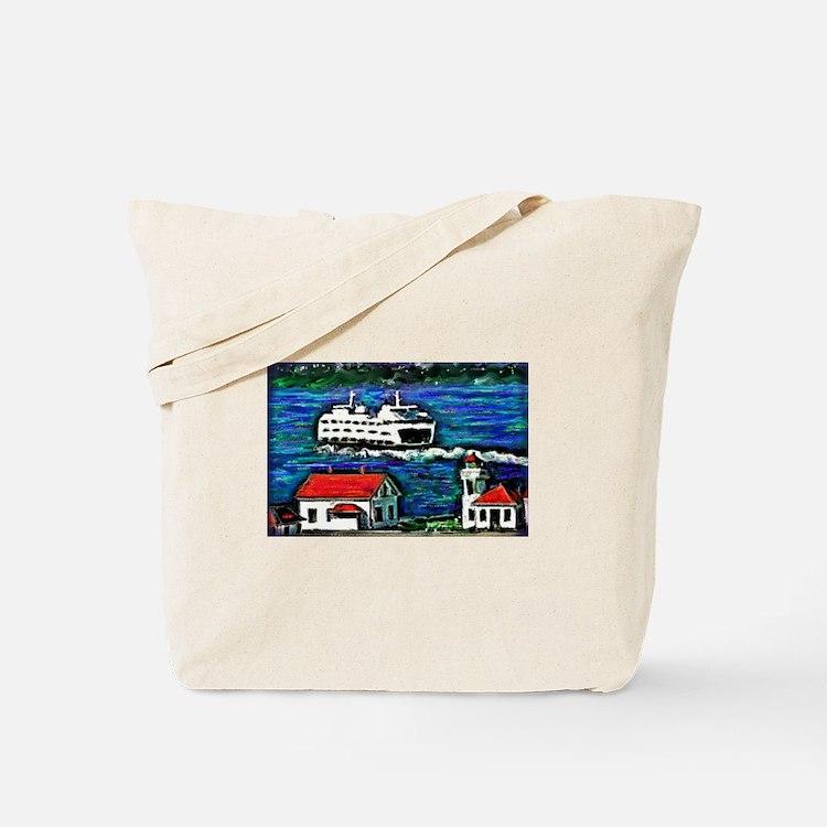 Cute Mukilteo lighthouse Tote Bag