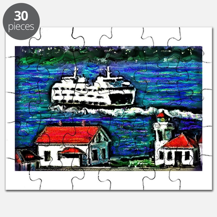 Cute Mukilteo lighthouse Puzzle