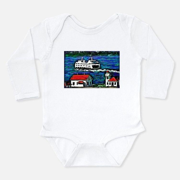 Cute Ferries Long Sleeve Infant Bodysuit