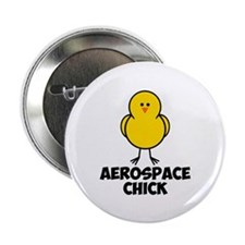 "Aerospace Chick 2.25"" Button (10 pack)"