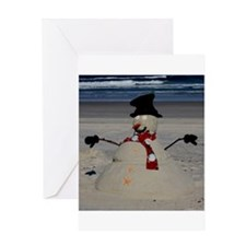 Floridian Snowman Greeting Card
