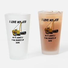 I Love My Job Drinking Glass