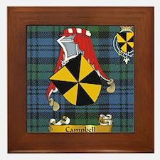 Campbell Scottish Family Name Framed Tile