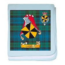 Campbell Scottish Family Name baby blanket