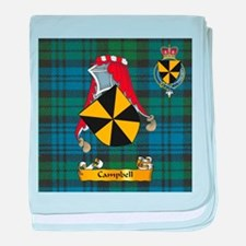 Campbell Scottish Family Name baby blanket