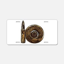 Corrections Bullet Aluminum License Plate
