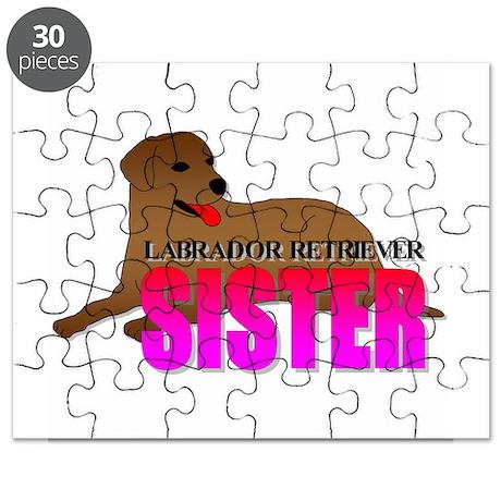 Chocolate Labrador Retriever Sister Puzzle