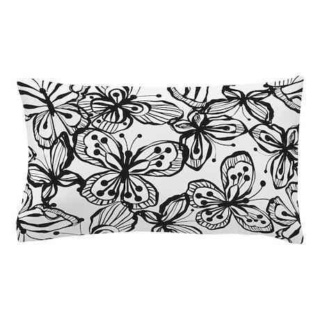 BW Butterfly BW Pillow Case