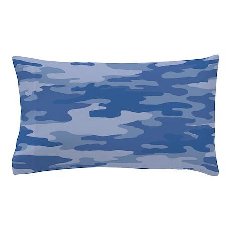 Camo Blue Pillow Case