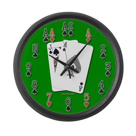 Blackjack 21 Large Wall Clock