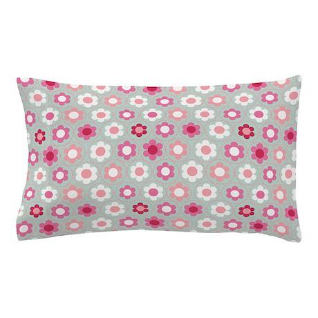 Dot Flower Pink Peach Pillow Case