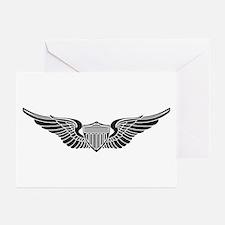 Aviator B-W Greeting Cards (Pk of 10)