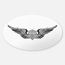 Aviator B-W Sticker (Oval)