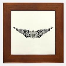 Aviator B-W Framed Tile
