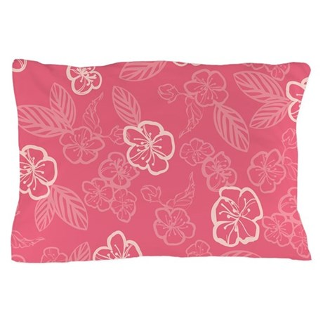 Flower Tropical Simple Pink Pillow Case