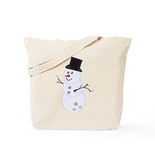 Bowling Ball Snowman Tote Bag