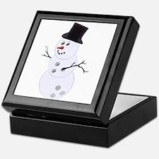 Bowling Ball Snowman Keepsake Box