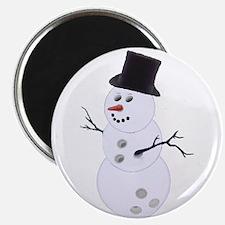 """Bowling Ball Snowman 2.25"""" Magnet (10 pack)"""