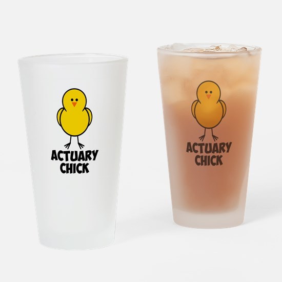 Actuary Chick Drinking Glass