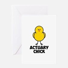Actuary Chick Greeting Card