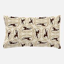 Horse Silhouette Tan Pillow Case