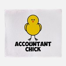 Accountant Chick Throw Blanket